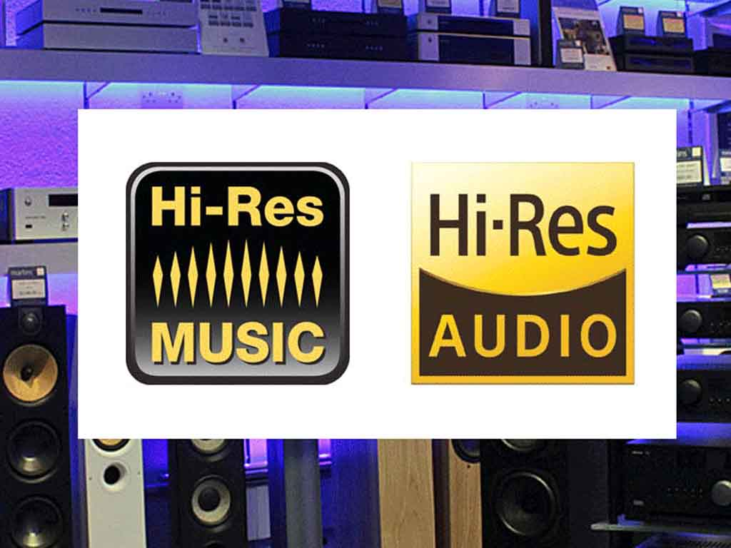 Hi res audio and music boards in shop